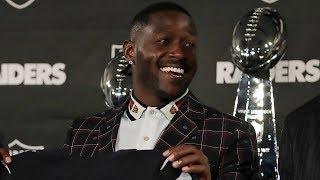 "Antonio Brown's Intro Presser with the Raiders, ""I want to catch Jerry Rice"""