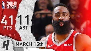 James Harden Full Highlights Rockets vs Suns 2019.03.15 - 41 Pts, 11 Ast, 9 Reb!