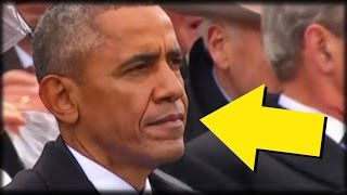 LOOK: EVERYONE NOTICES 1 DETAIL ABOUT OBAMA DURING TRUMP'S INAUGURATION SPEECH