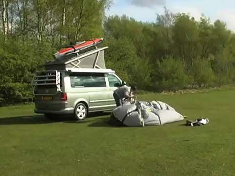 Connecting a Khyam Driveaway Awning to a Cassette Awning ...
