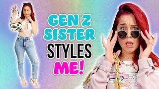 Millennial Follows Gen Z Sister's Fashion Advice!? *18 year age gap*