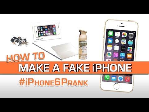 Como hacer un Iphone 6 falso