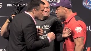 Chael Sonnen and Wanderlei Silva Separated at Heated UFC 175 Faceoffs
