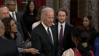 Vice President Joe Biden swears in Kamala Harris