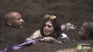 رد فعل منه فضالي بعد اكتشافها مقلب رامز فى رامز تحت الأرض ...