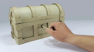 How to Make a Treasure Chest From Cardboard ! DIY Treasure Chest