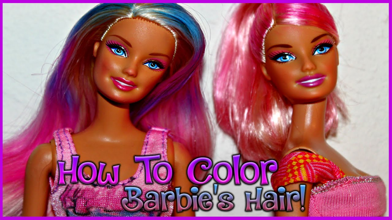 doll with hair to style how to color your doll s hair 9376