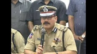Hyderabad CP Anjani Kumar press meet; lauds teams..