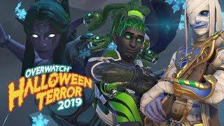 TYRANDE SYMMETRA & ILLIDAN GENJI SKIN SHOWCASE (Overwatch Halloween Terror 2019)