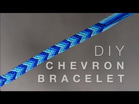Diy Chevron Friendship Bracelet Youtube