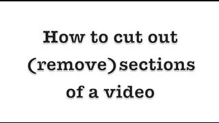 Windows Live Movie Maker Quick Tut: How to cut out a section of your video