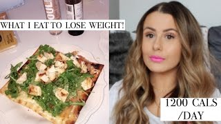 WHAT I EAT IN A DAY TO LOSE WEIGHT | 1200 CALORIES/DAY | am i starving myself?!