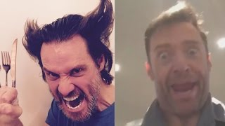 MUST SEE! Jim Carrey and Hugh Jackman Do Spot On Impressions Of Each Other!