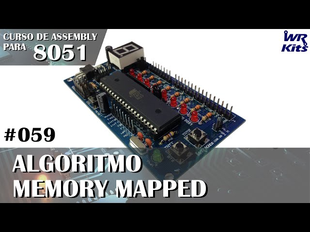 ALGORITMO MEMORY MAPPED | Assembly para 8051 #059