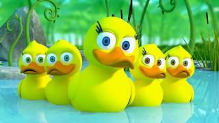 five little ducks ! cartoon video in kids ! children videos