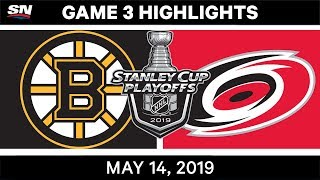 NHL Highlights | Bruins vs. Hurricanes, Game 3 – May 14, 2019