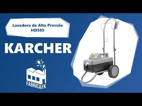 Lavadora De Alta Pressão 1600PSI HD585 Karcher - 127V - Vídeo explicativo