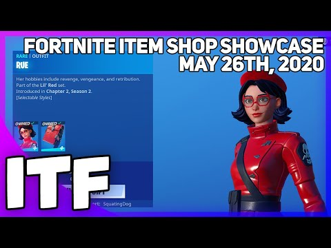 Fortnite Item Shop RUE IS BACK! [May 26th, 2020] (Fortnite Battle Royale)