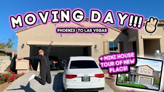 ITS MOVING DAY! + New House Tour! *phx to vegas*