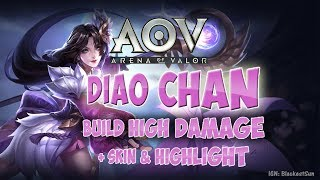 Arena of Valor - AOV - Diao Chan HIGH DAMAGE build!