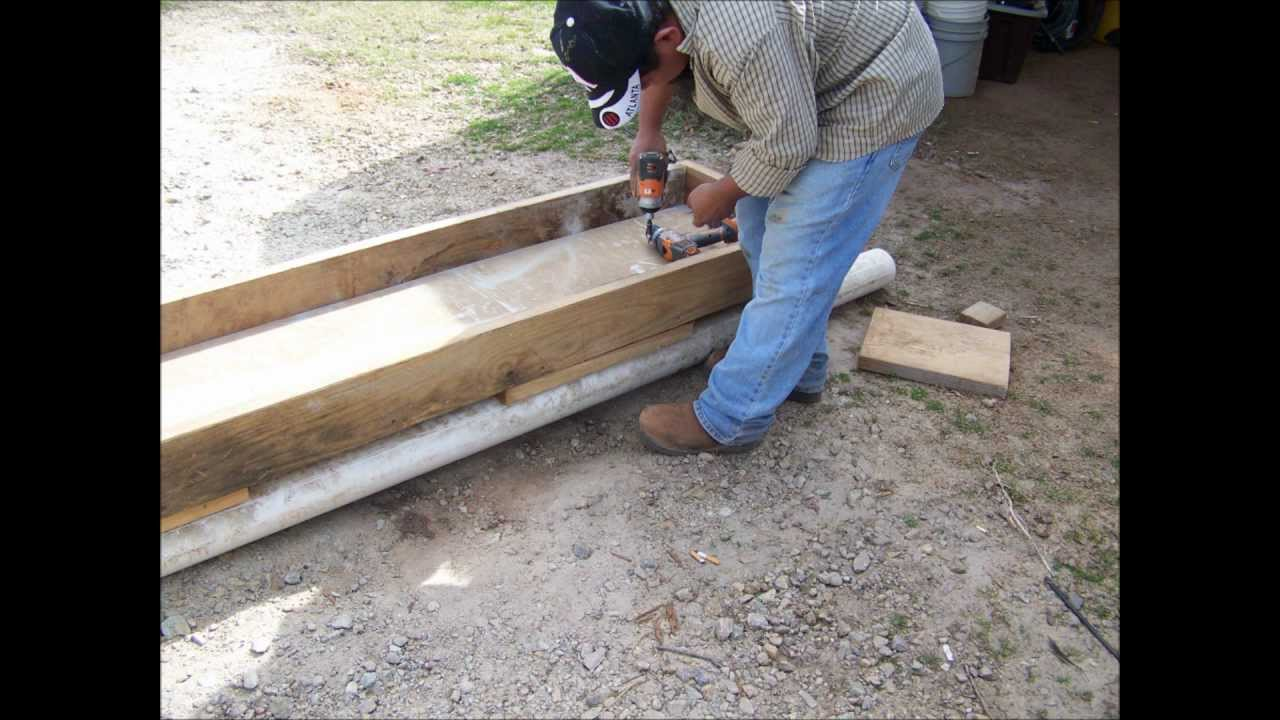 How We Made Feed Troughs For Our Cattle Youtube
