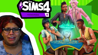The Sims 4 Paranormal Stuff Pack: Official Reveal Trailer || GIVEAWAY & REACTION