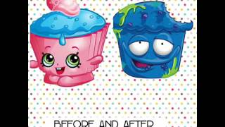 Before and after with grossery gang and shopkins