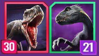 INDORAPTOR Vs INDOMINUS REX LEVEL 30 - Jurassic World Alive