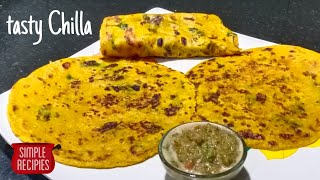 Tasty and quick Chilla by simple recipies