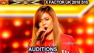 "Maria Laroco 17 yo FILIPINO ""Purple Rain"" OMG!! SIMON INFINITY YES AUDITIONS week 2 X Factor UK 2018"