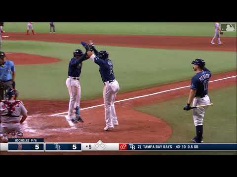 Wander Franco first major league homer and hit - 6/22/21