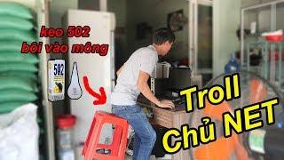 Troll Bôi Keo Siêu Dính Vào Ghế Và Mông Chủ Quán NÉT | TQ97