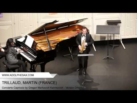 Dinant 2014 - TRILLAUD Martin (Concierto Capriccio by Gregori Markovich Kalinkovich - v. DINANT)
