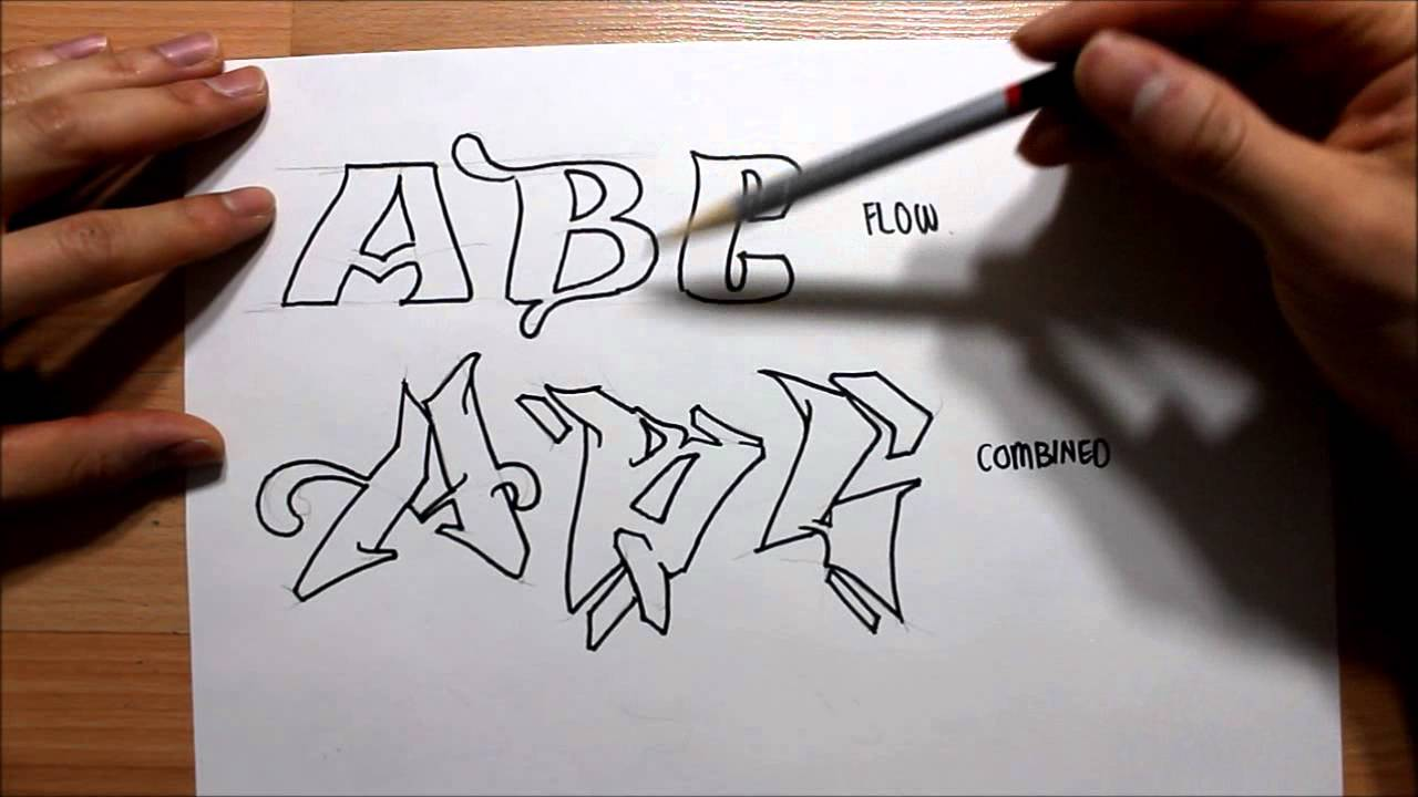 How to draw Graffiti Letters STEP BY STEP | Graphics ...How To Draw Graffiti Art Step By Step