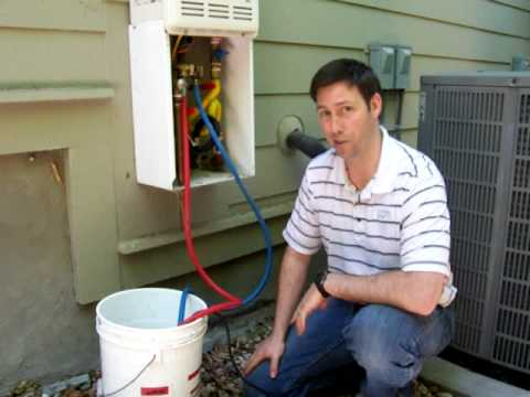 Maintaining A Tankless Water Heater Youtube
