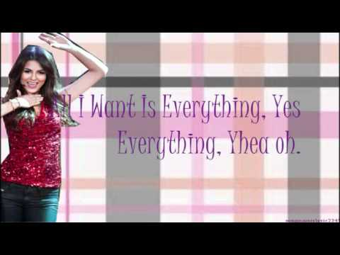 Baixar Victorious (Victorious Cast ft. Victoria Justice) - All I Want Is Everything (Lyrics&Download)