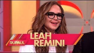 Leah Remini and Cheyenne Jackson on 'RuPaul'