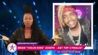 Tyler Butler-Figueroa Violinist from AGT 2019 encouraged by Brian King Joseph on Talent Recap