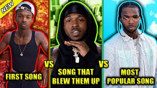 RAPPERS FIRST SONG VS SONG THAT BLEW THEM UP VS MOST POPULAR SONG 2020