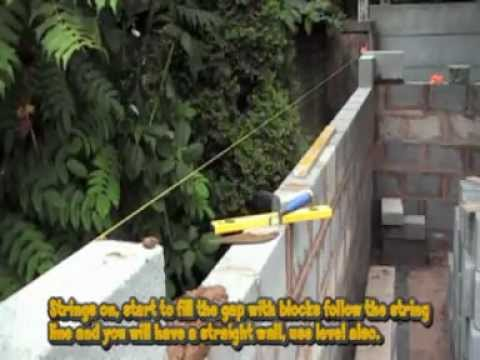 How To Build A Concrete Block Shed Youtube