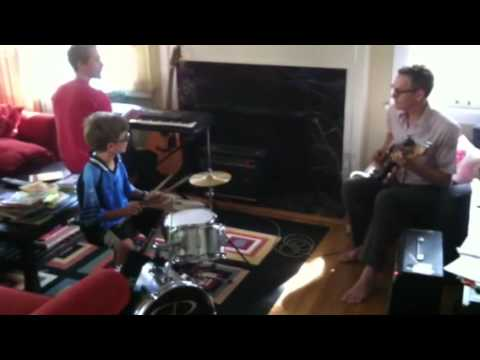 This is Charlie's first experience with Reggae, after he finds his sticks of course! (His cousins are reluctant to sing)