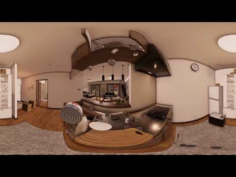 Earthquake Virtual Reality Experience 360 Movie Vol.3 in a kitchen of a home