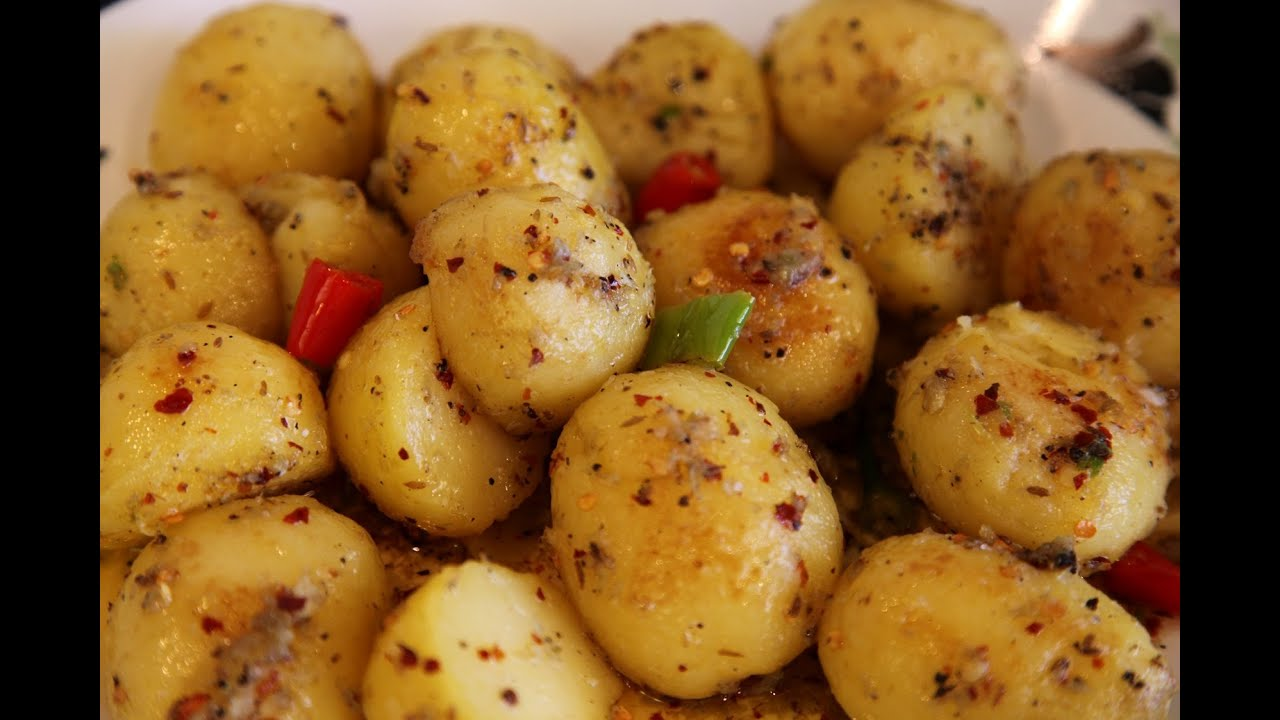 """"""" HOT & SPICY BABY POTATOES """" Bajias Cooking - YouTube"""