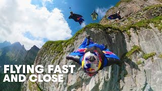 "Wingsuit Flying Formation in ""The Crack""  