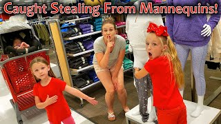 Caught Stealing From Mennequins! New Mannequin Challenge???