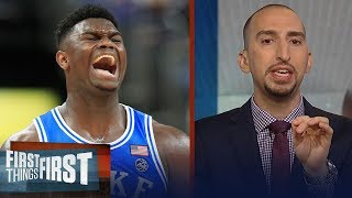 Nick Wright on Steve Kerr comparing Duke's Zion Williamson to LeBron | NBA | FIRST THINGS FIRST