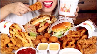 ASMR Burger King FEAST Whopper, Chicken Tenders, Onion Rings *No Talking