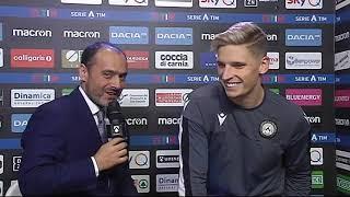 7 dicembre 2019   Udinese - Napoli 1-1   intervista Stryger Larsen post partita