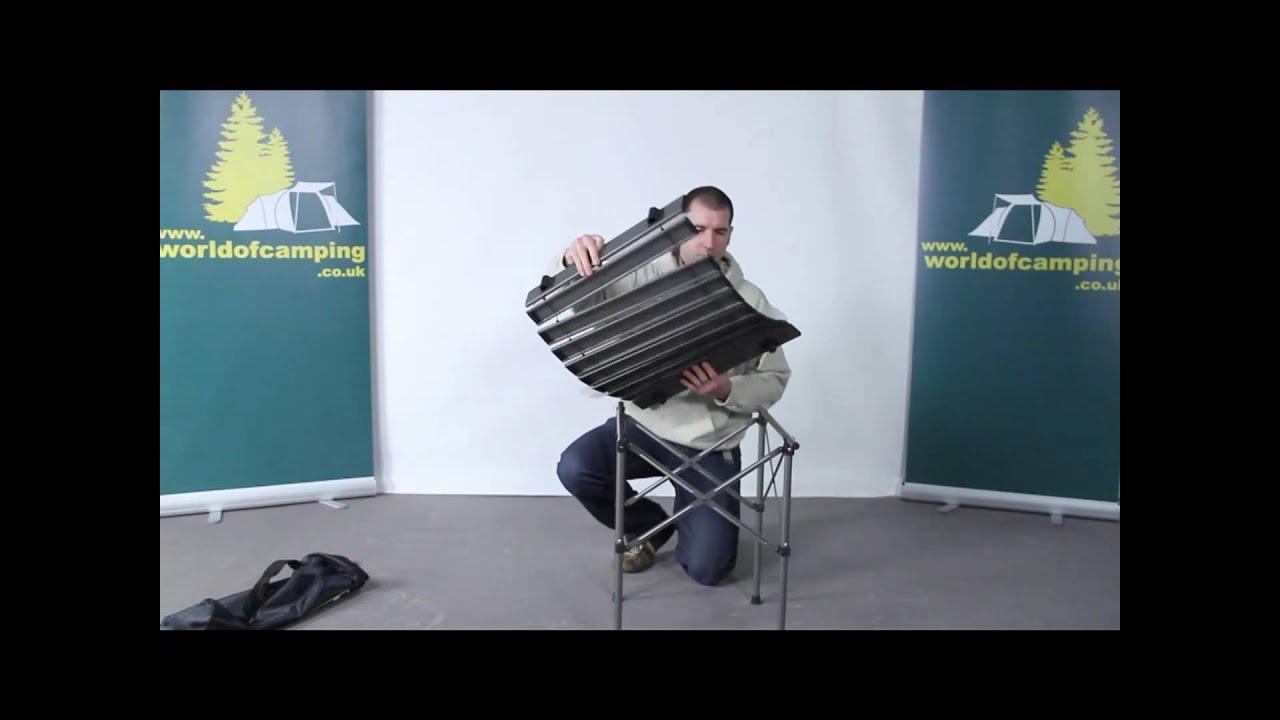 Sunncamp Roll Up Aluminium Camping Table Youtube