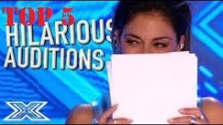 TOP 5 FUNNIEST AUDITIONS ON X FACTOR